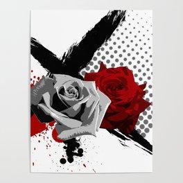 Trash Polka Roses Poster