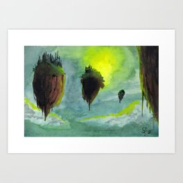 Floating Citadels Art Print