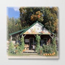 Vermont Farm Stand in Foliage Season Metal Print