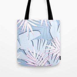 Elegant Tropical Blue Banana Leaves Design Tote Bag