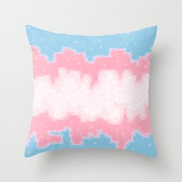 Trans Pride Flag Galaxy Throw Pillow