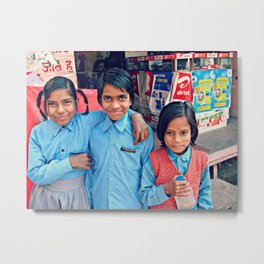 Indian Child. Brothers Metal Print