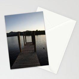 derwentwater jetty sunset Stationery Cards