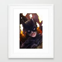batgirl Framed Art Prints featuring Batgirl by Nicole M Ales