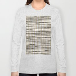 Line Art - Gold and Black Lines on White - Mix and Match with Simplicty of Life Long Sleeve T-shirt