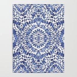 Abstract Indigo Pattern No.1 Poster