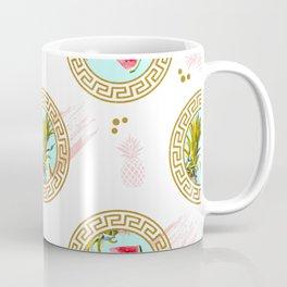 Aztec Fruit Pattern Coffee Mug