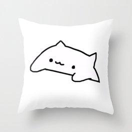 Bongo Cat Meme Throw Pillow
