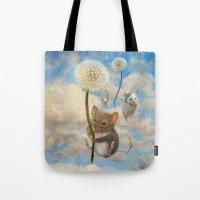 onesie Tote Bags featuring Dandemouselings by Aimee Stewart