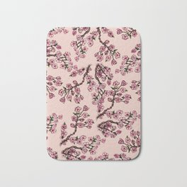 Sakura Branch Watercolor Bath Mat