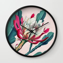 Flowering cactus IV Wall Clock