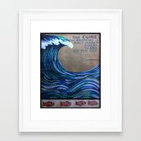 the cure Framed Art Prints featuring The Cure by Jeanne Hollington