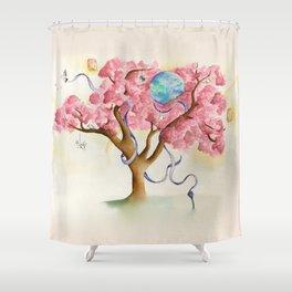 Peace Treety Shower Curtain