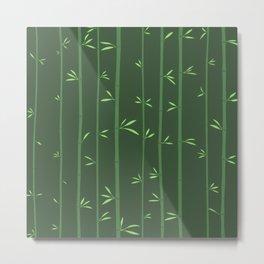 Elegant Bamboo Minimalist Design Metal Print