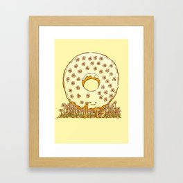 In Bloom Donut Framed Art Print