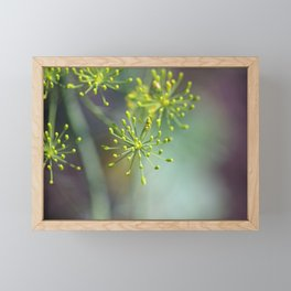 Dill Abstract on Mint Green and Plum Framed Mini Art Print