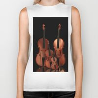 mortal instruments Biker Tanks featuring String Instruments by Simone Gatterwe