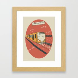 U-BAHN Framed Art Print