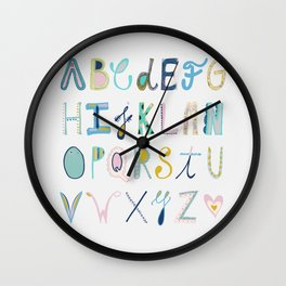 Alphabet Wall Clock