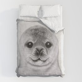Baby Seal - Black & White Comforters