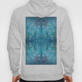 Blue Abstract Background Hoody
