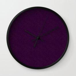 """Dark purple textured.""""Black currant"""" Wall Clock"""