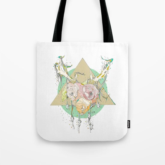 shiny white teeth tote bag by cassidy rae marietta society6. Black Bedroom Furniture Sets. Home Design Ideas