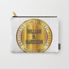 William H. Harrison Gold Metal Stamp Carry-All Pouch