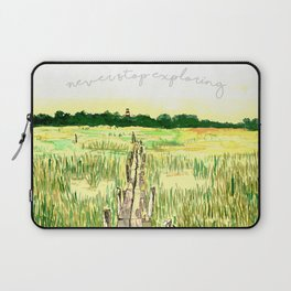 Never Stop Exploring Laptop Sleeve