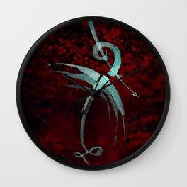 A Tarot of Ink Major Arcana XV The Fallen or The Devil Wall Clock