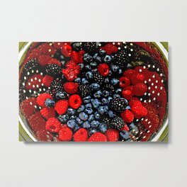 Colander Full of Fruit Metal Print
