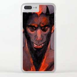 The Devil from the House of the Setting Sun Clear iPhone Case