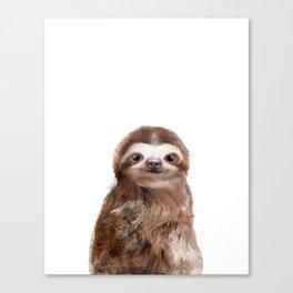Little Sloth Canvas Print