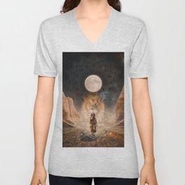 Full Moon in Leo Unisex V-Neck