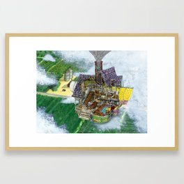 Up - Carl's House Cross-Section Framed Art Print
