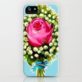 Retro Vintage Floral Bouquet Rose Lilies iPhone Case