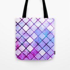 Purple Tiled Geometric Design Tote Bag