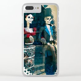 Wedding skeletons Clear iPhone Case