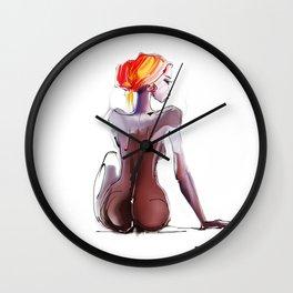 African beautiful woman Wall Clock