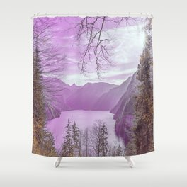 A pink sky Shower Curtain