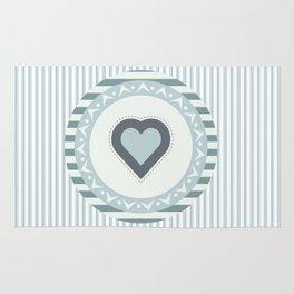 Blue heart Rug