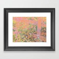 Flower/Fence 2 Framed Art Print