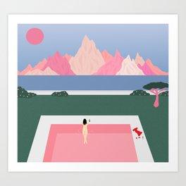 Poolside Views Art Print