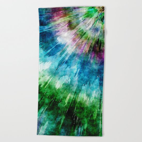 Abstract Grunge Tie Dye Beach Towel
