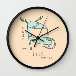 Enjoy the Little Things Illustration Wall Clock