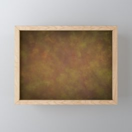 Abstract Watercolor Patch Work Blend 11 Light Brown & Dark Brown, Earth Tones Framed Mini Art Print