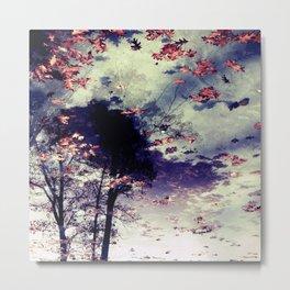 Tree and Fall Metal Print