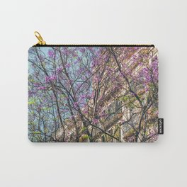 Purple Flower Trees, Tree Blossom, Barcelona City, Pink Flowers, Spring Blossom, Spring In Barcelona, Nature Back To Life Carry-All Pouch