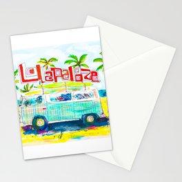 Lollapalooza Plaid Rad Beach Van Stationery Cards