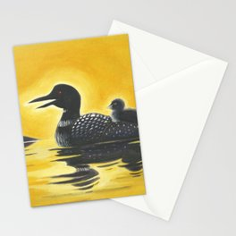 Loon on Lake Simcoe Stationery Cards